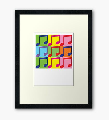 Pop Art Music Notes Framed Print