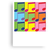 Pop Art Music Notes Canvas Print