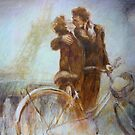Kissing in Paris by Lorenzo Castello