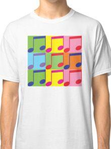Pop Art Music Notes Classic T-Shirt