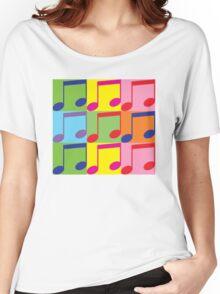 Pop Art Music Notes Women's Relaxed Fit T-Shirt