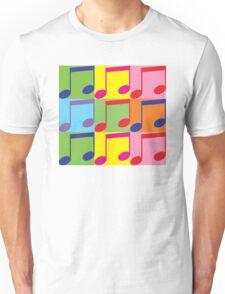 Pop Art Music Notes Unisex T-Shirt