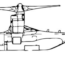 V22 Osprey (side) Sticker