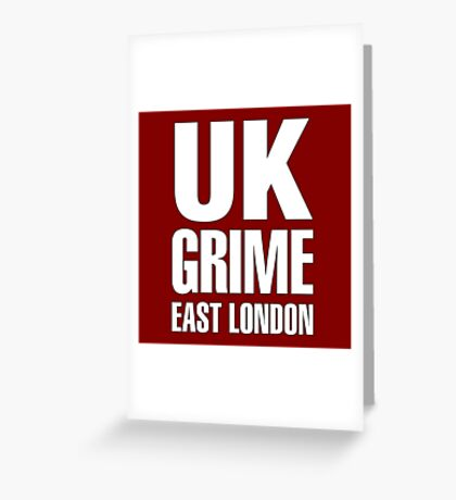 UK grime (white) Greeting Card