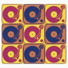 Vinyl Record Turntable Pop Art 3 by retrorebirth