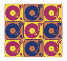 Vinyl Record Turntable Pop Art 3 by retrorebirth