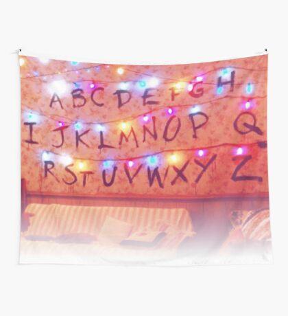 STRANGER THINGS ALPHABET LIGHTS Wall Tapestry