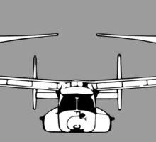 V22 Osprey (front) on Grey Sticker