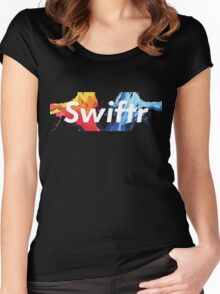 swiftr logo painting Women's Fitted Scoop T-Shirt