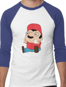 Super Mario is a jerk Men's Baseball ¾ T-Shirt
