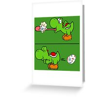 Yoshi swallows Togepi Greeting Card
