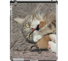 Excited cat iPad Case/Skin