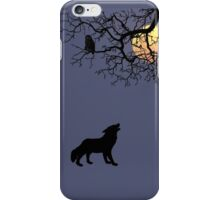 The Owl, The Wolf and the Moon... iPhone Case/Skin