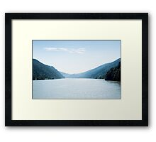 Panoramic view of the Danube Valley Framed Print