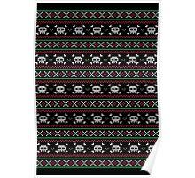 Skulls Christmas Sweater Poster