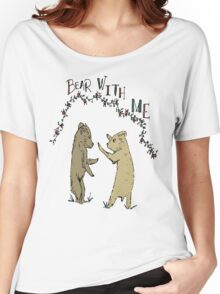 Baby Bear Cubs Play Fighting Children's Illustration Women's Relaxed Fit T-Shirt