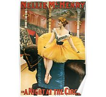 Poster 1890s Nellie McHenry in A Night at the Circus theatrical poster 1893 Poster