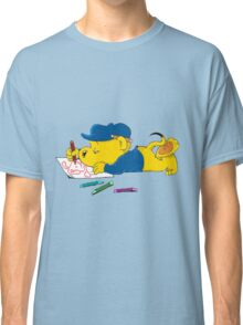 Ferald Drawing By The Waterfall Classic T-Shirt