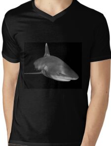 The Sly Grin of An Oceanic White Tip Shark Mens V-Neck T-Shirt