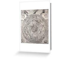 vintage Moon map Greeting Card