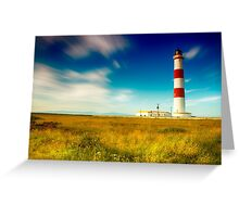 Tarbatness Lighthouse, scotland Greeting Card