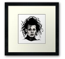Tribute to Edward Scissorhands *RE-EDITED Framed Print