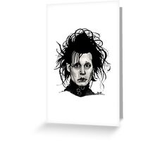 Tribute to Edward Scissorhands *RE-EDITED Greeting Card
