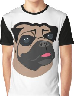 Cute Pug Dog Face Cartoon  Graphic T-Shirt