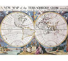 vintage Moon map Photographic Print
