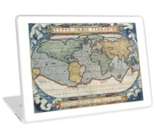 vintage Moon map Laptop Skin