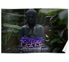 Zen and Flowers Poster