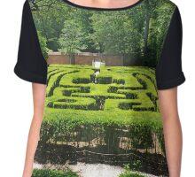 Garden Maze Chiffon Top