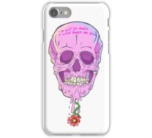 THE CHEWING GUM SKULL or THE WILL TO DEATH iPhone Case/Skin