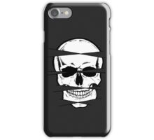 Skull and crossed lines iPhone Case/Skin