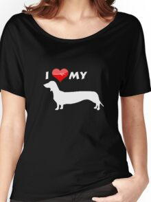 I love my dog T-shirt Women's Relaxed Fit T-Shirt