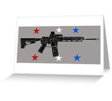 Red White Blue Pew  Greeting Card