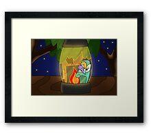Firefly Lantern Framed Print