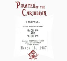 Pirates of the Caribbean- Fastpass Kids Clothes