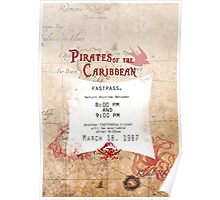 Pirates of the Caribbean- Fastpass Poster