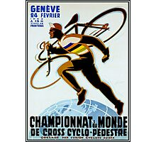 SWISS BICYCLE; Vintage Racing Advertising Print Photographic Print