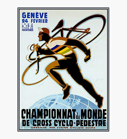 SWISS BICYCLE; Vintage Racing Advertising Print Photographic Print