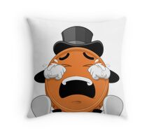 CRYING PENNY EMOJI COIN Throw Pillow