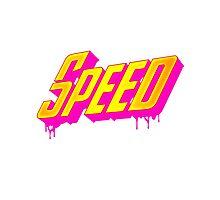 Speed 80s retro style Photographic Print