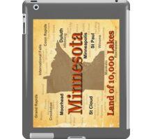 Aged Minnesota State Pride Map iPad Case/Skin