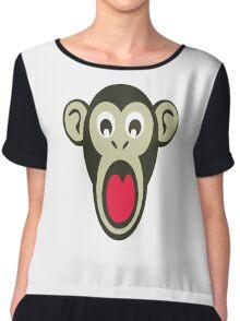 Shocking Monkey Cartoon  Chiffon Top