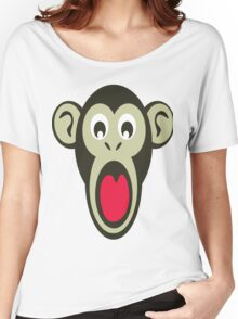 Shocking Monkey Cartoon  Women's Relaxed Fit T-Shirt