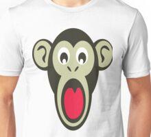 Shocking Monkey Cartoon  Unisex T-Shirt