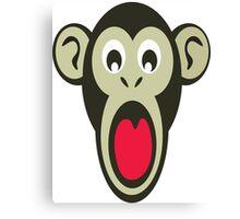 Shocking Monkey Cartoon  Canvas Print