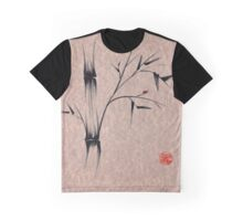 The Ladybug Sleeps - india ink brush pen bamboo drawing Graphic T-Shirt