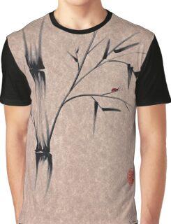 The Ladybug Sleeps - india ink brush pen bamboo drawing Graphic T-Shirt